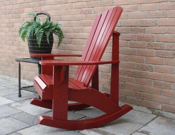 кресло качалка из дерева