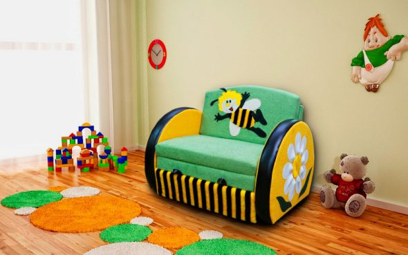 кресло кровать детское