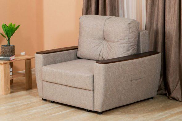 кресло кровать серое