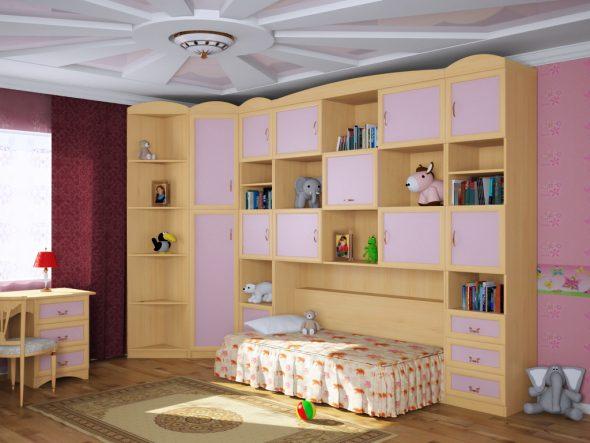 кровать откидная в детскую для девочки