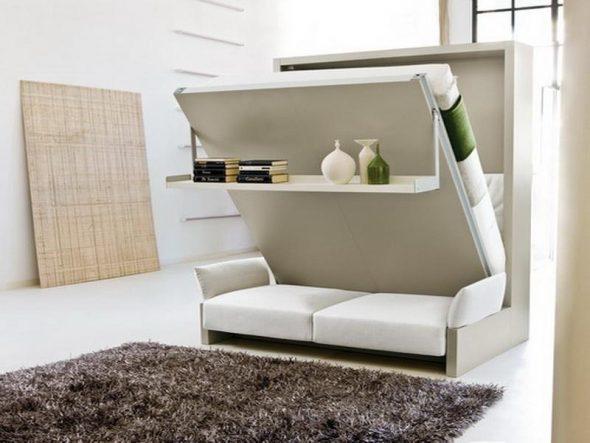 Кровать в шкафу - трансформер