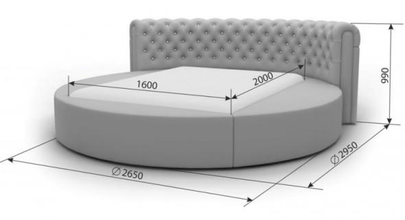 Кровати нестандартной формы