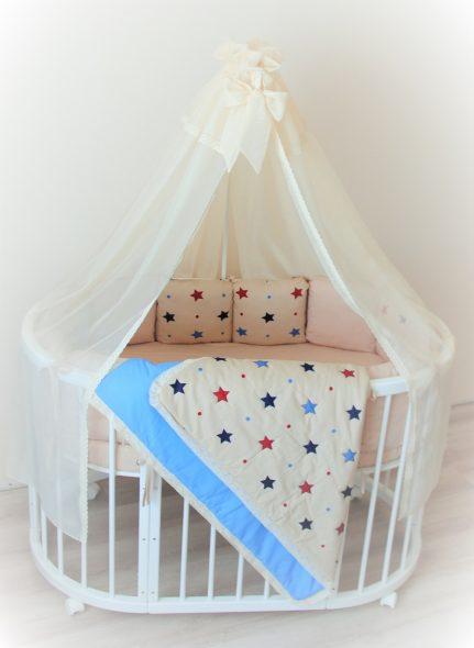 Кроватка-трансформер со звездами