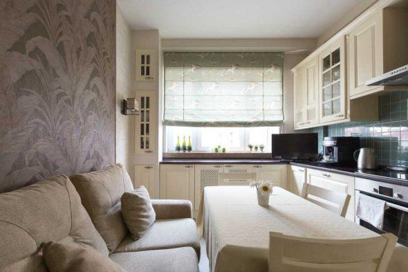кухня с диваном 10 кв м