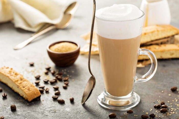латте кофе с молоком
