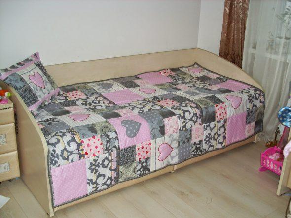Лоскутное одеяло для девочки-подростки