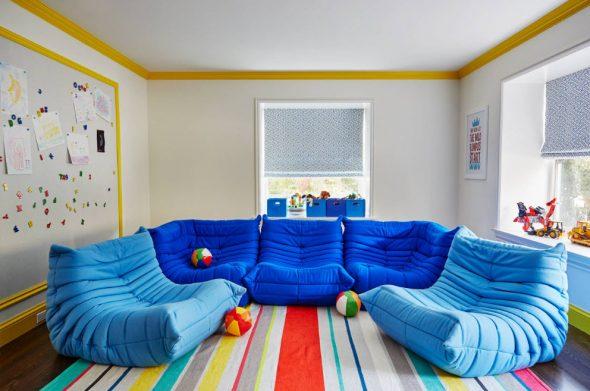 бескаркасная мебель синяя