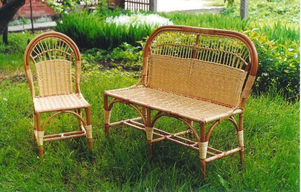 Мебель из ивы ручной работы