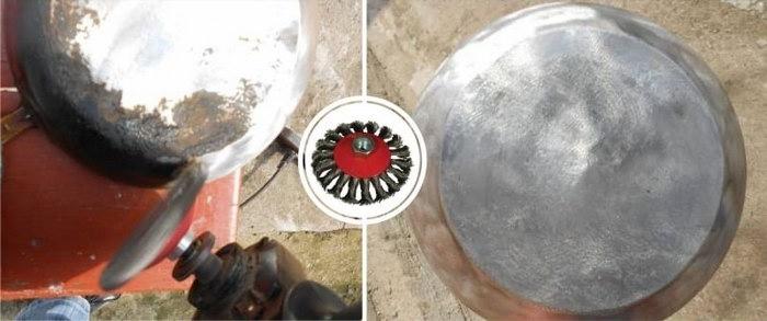 механический способ чистки нагара