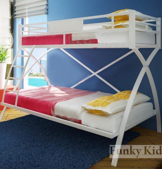детская кровать двухуровневая