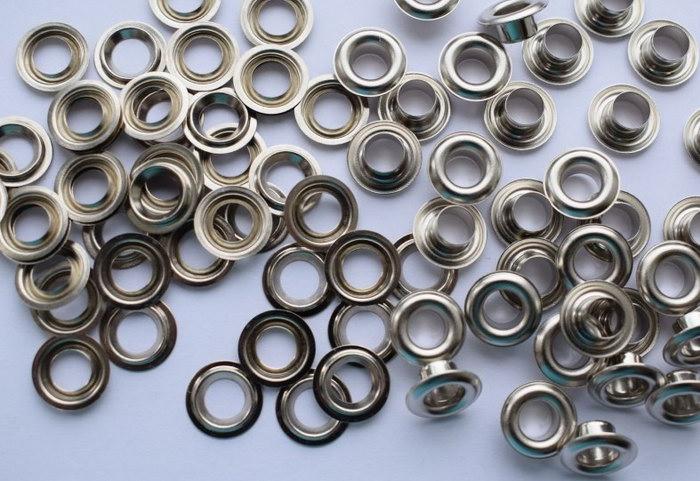 Никелированный люверсы круглого типа для тента