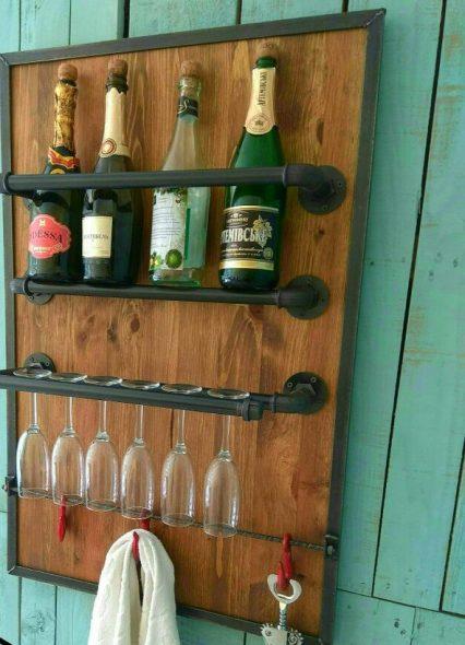 Мини бар в стиле лофт