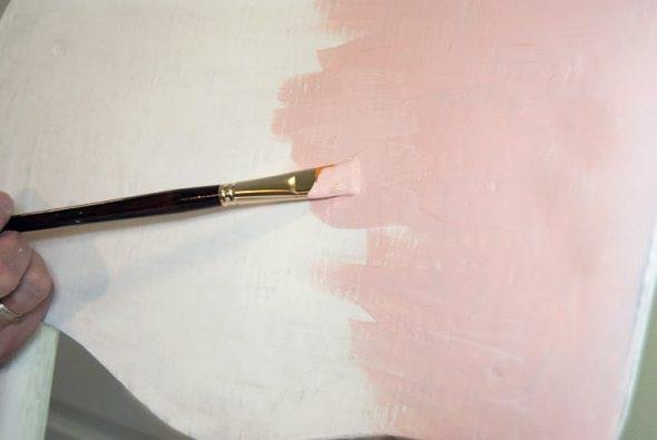 Нанесение краски