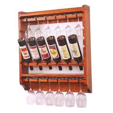 Наклонная полка для хранения вина в бутылках