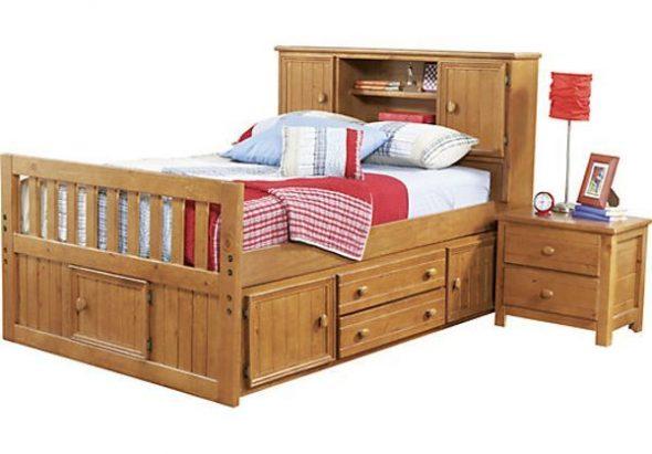 односпальная кровать с ящиками Арнольд