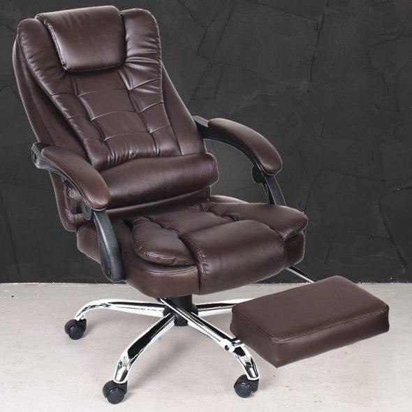 офисное кресло с подставкой для ног