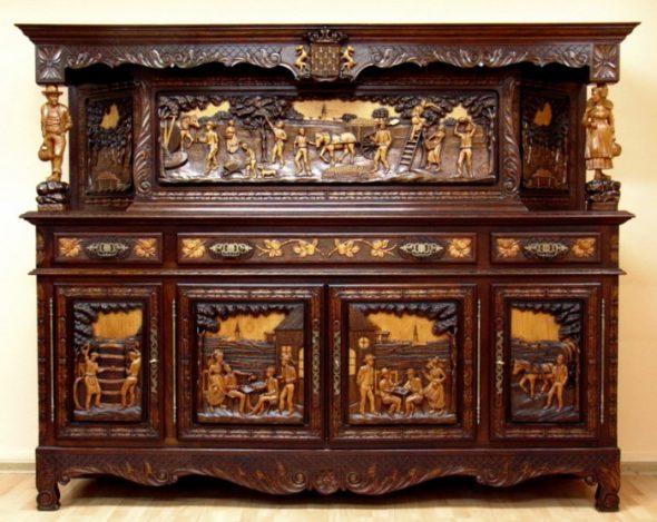 Оригинальная резная мебель
