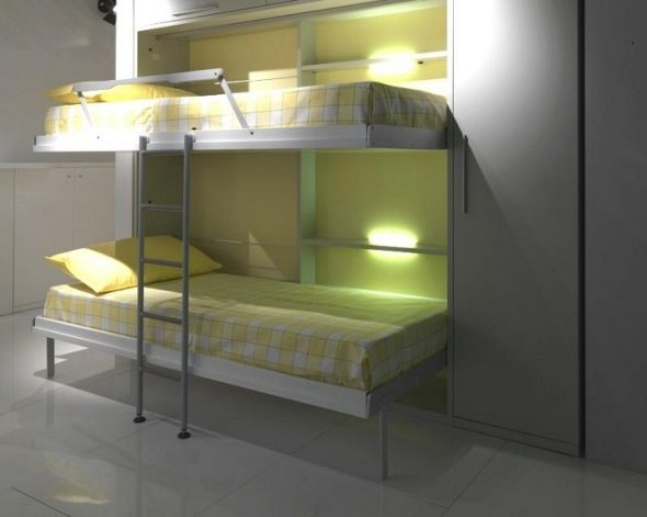Откидная кровать двухъярусная
