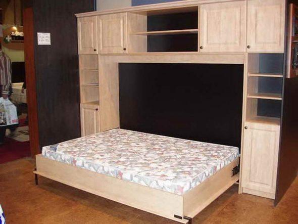 Откидная кровать в стенке