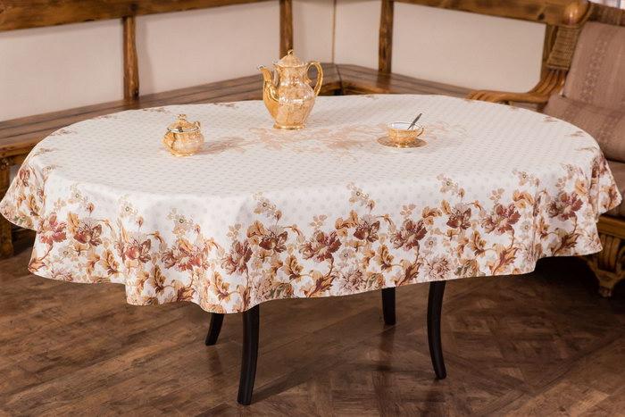 овальный стол скатерть