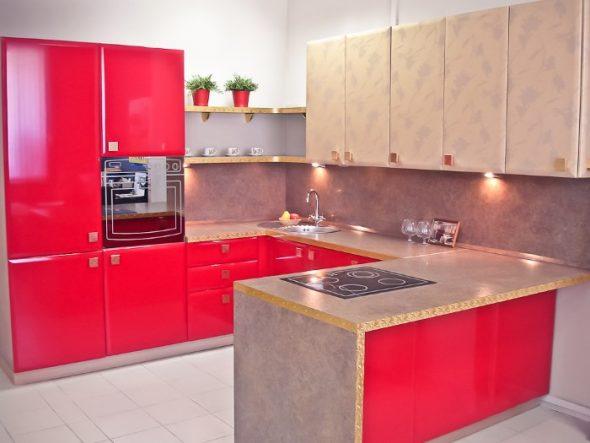П-образное размещение кухни