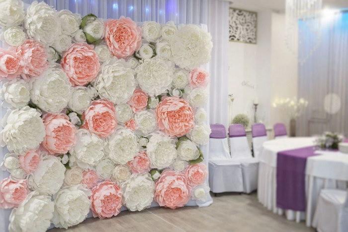 цветы из салфетки для фотозоны