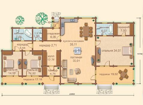 Большой дом с планировкой