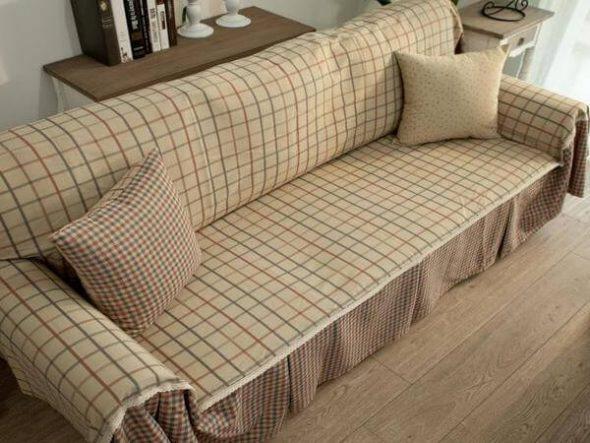 плед на угловой диван