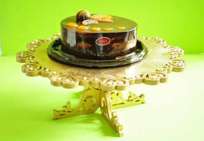 подставка для торта из фанеры