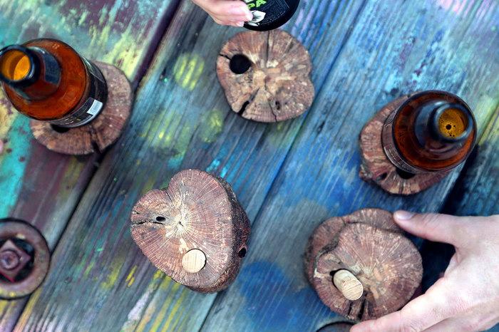 подставки под пиво из спилов