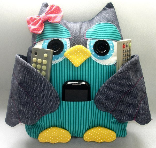 подушка сова для пультов фото