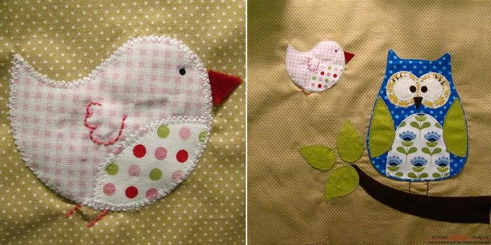 подушка сова с аппликацией фото