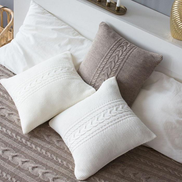 подушка вязаная фото дизайна