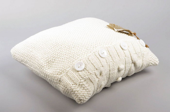подушка вязаная идеи