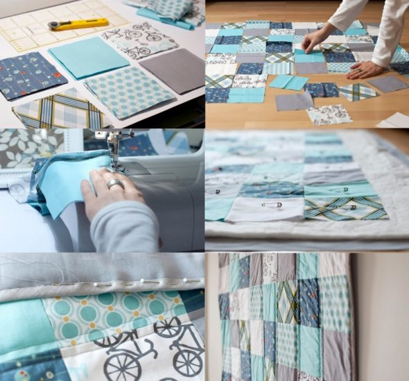 Этапы изготовления одеяла