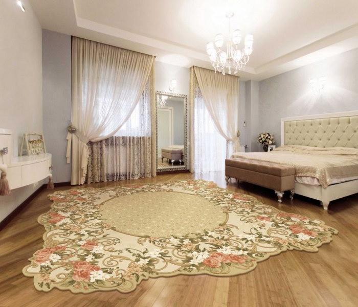 прикроватные классические коврики для спальни дизайн
