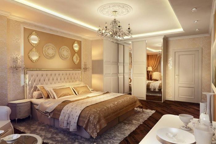 прикроватные классические коврики для спальни интерьер