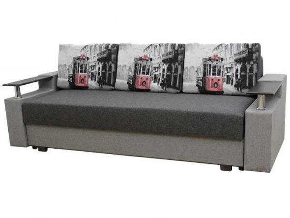 Прямой диван еврокнижка