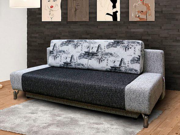 раскладной диван еврокнижка у стены
