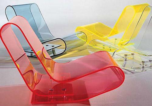 Разноцветный пластиковые кресла в современном стиле