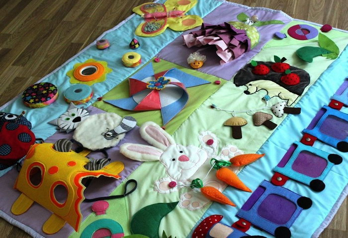 развивающий коврик для детей оформление идеи