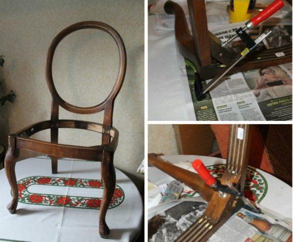 ремонт стула деревянного
