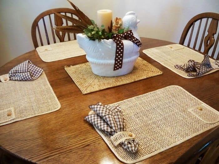 салфетки подложки для тарелок