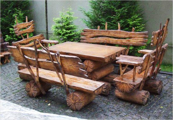 сделать садовую мебель