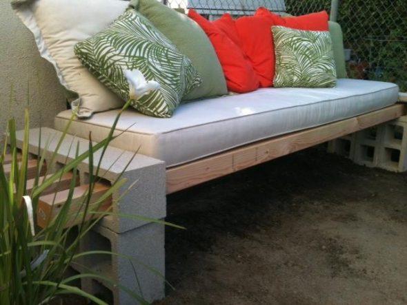 сделать садовую мебель самому