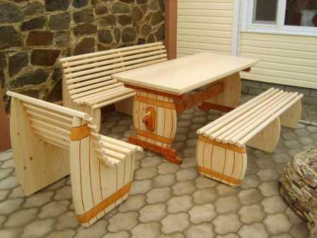 сделать садовую мебель своими руками для пикника