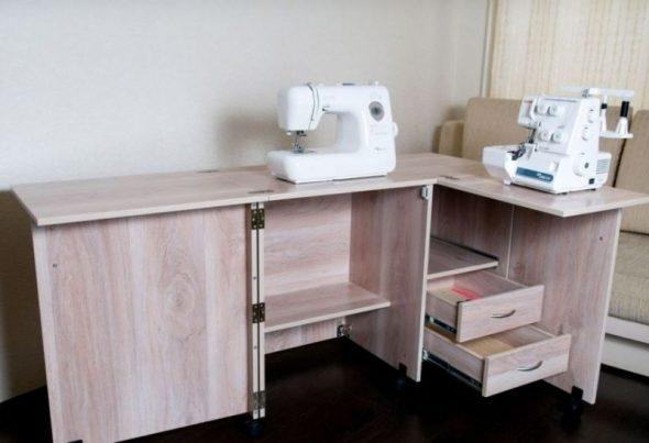 сделать стол для швейной машинки
