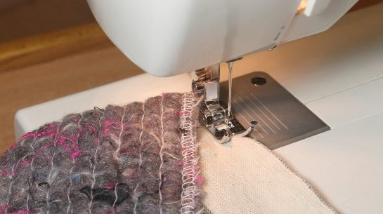 Чехол из ткани и ватина