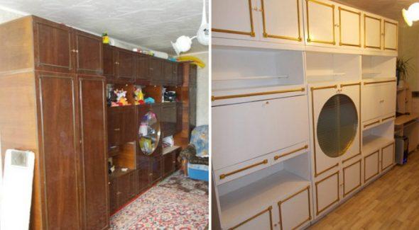 шкаф до и после