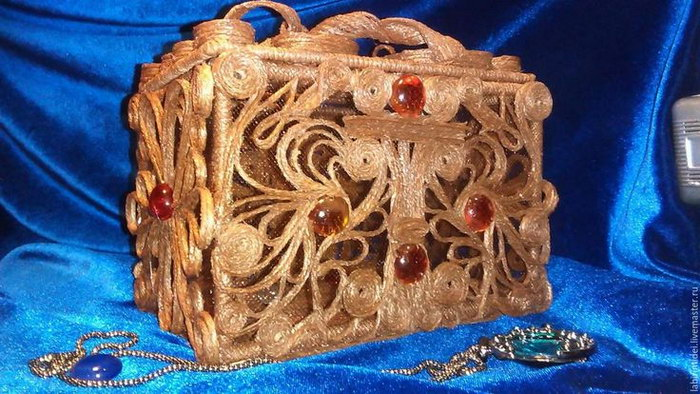 шкатулка из джута своими руками фото декора